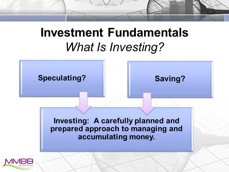 Investment Fundamentals What Is Investing. Speculating.