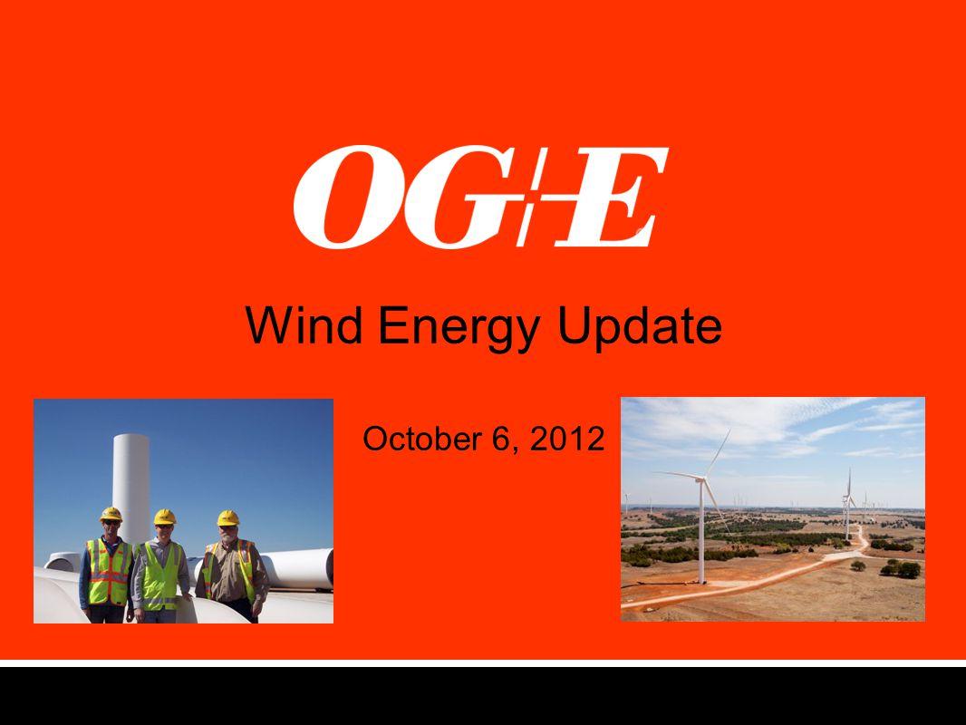 Wind Energy Update October 6, 2012