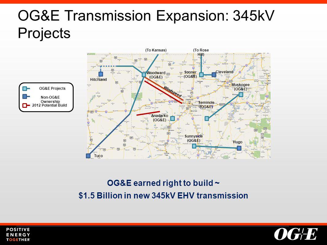OG&E Transmission Expansion: 345kV Projects 5 Woodward (OG&E) Hitchland Tuco Cleveland Hugo Anadarko (OG&E) Seminole (OG&E) Muskogee (OG&E) Sunnyside