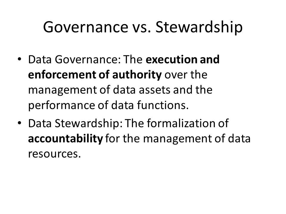 Governance vs.