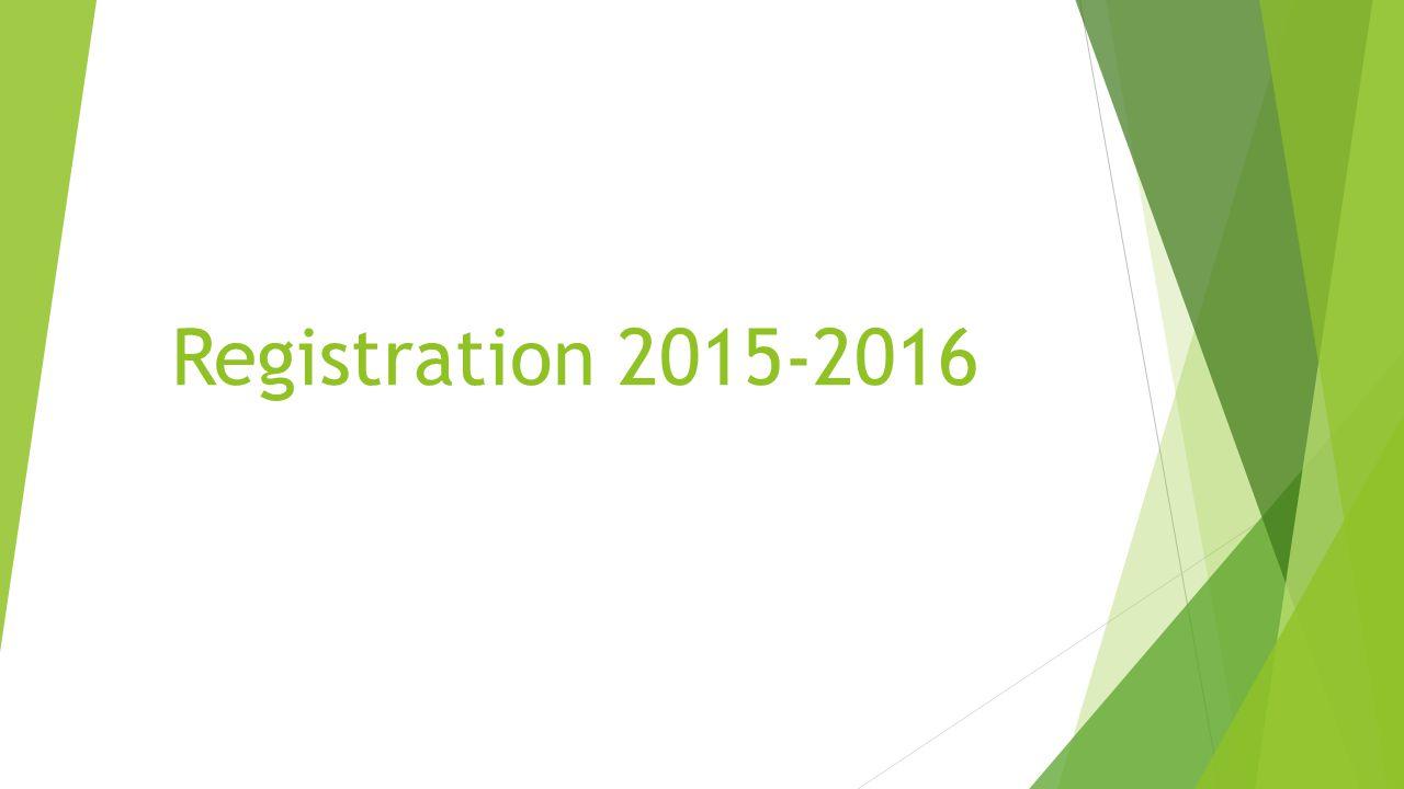 Registration 2015-2016