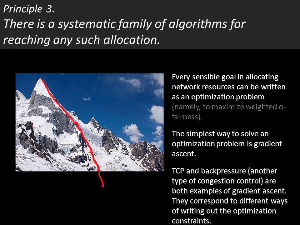 Principle 3. There is a systematic family of algorithms for reaching any such allocation.