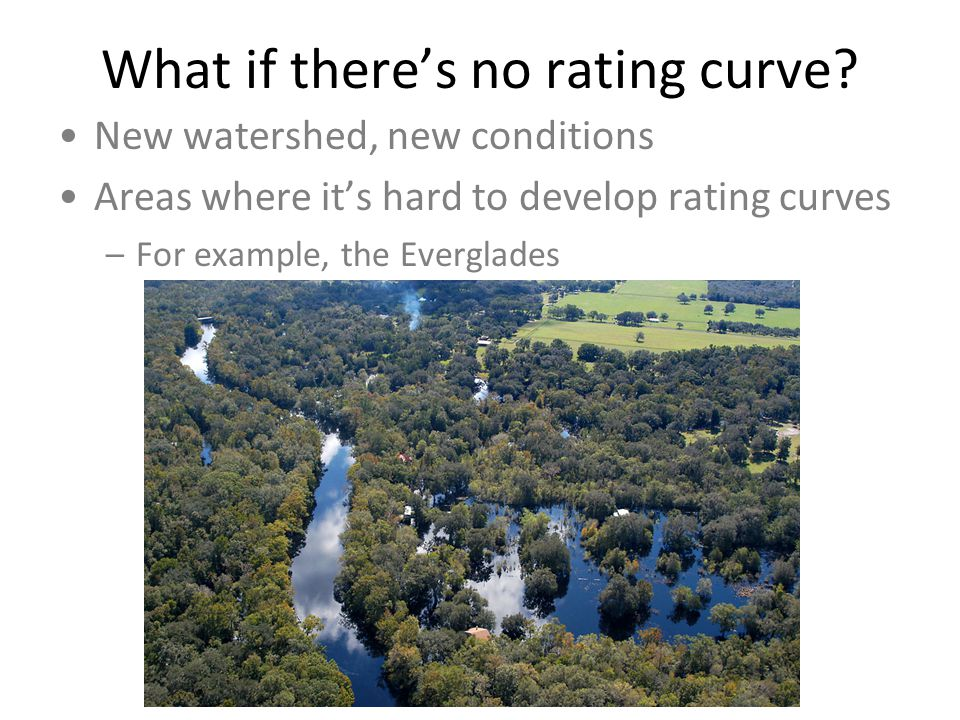 What if there's no rating curve.