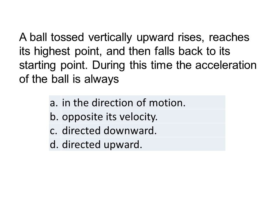 a.in the direction of motion. b.opposite its velocity.