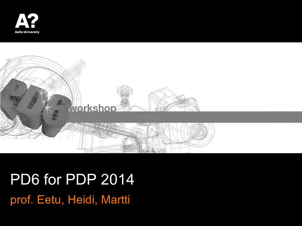 DESIGN BRIEF PD6 Workshop