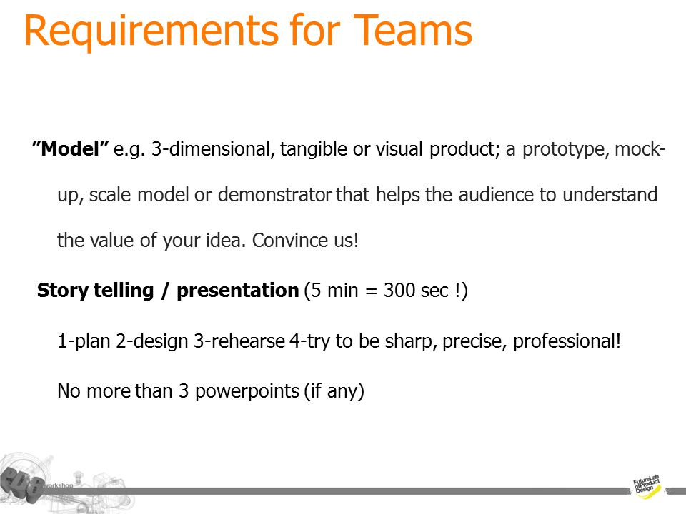 Requirements for Teams a plan for the day and roles exist (CP1) documenting (still-video-sound-test-usability-etc) phone call(s) made face-to-face meeting(s) with an external party testing done And all of those in a way that makes sence!