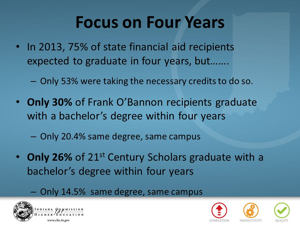 Frank O'Bannon Students The following seven (7) slides apply only to the Frank O'Bannon program.