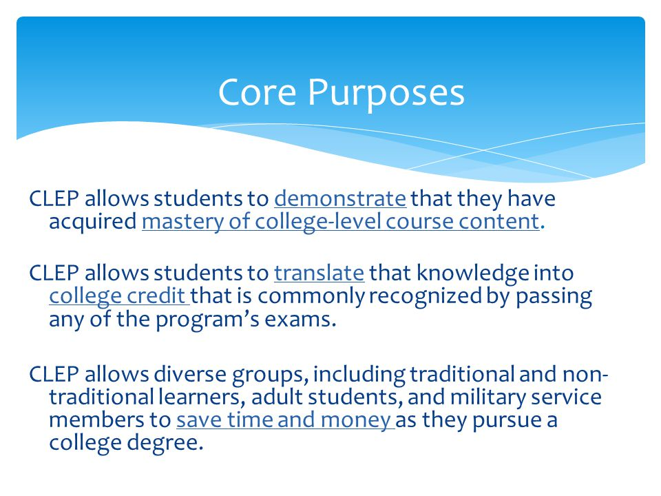  Recent focus has been students placing into developmental courses  Why do we ignore students who are college level and higher.