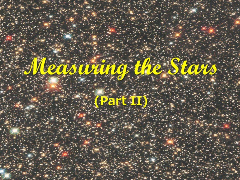 Measuring the Stars (Part II)