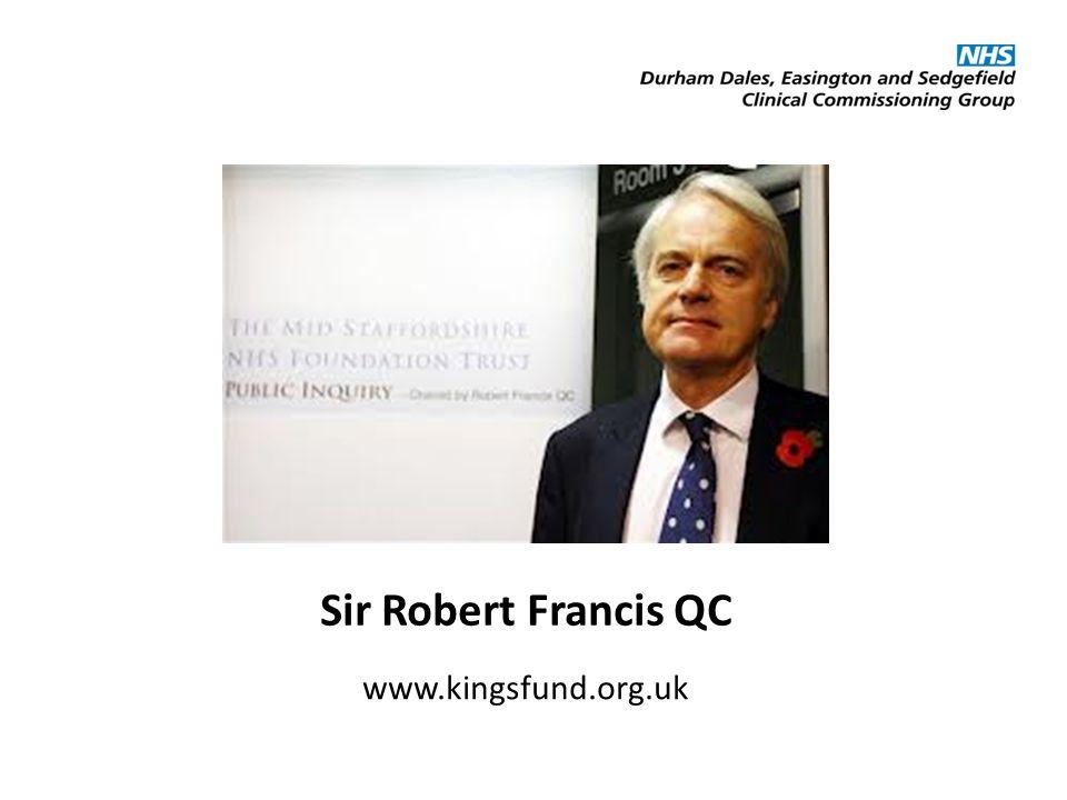 Sir Robert Francis QC www.kingsfund.org.uk