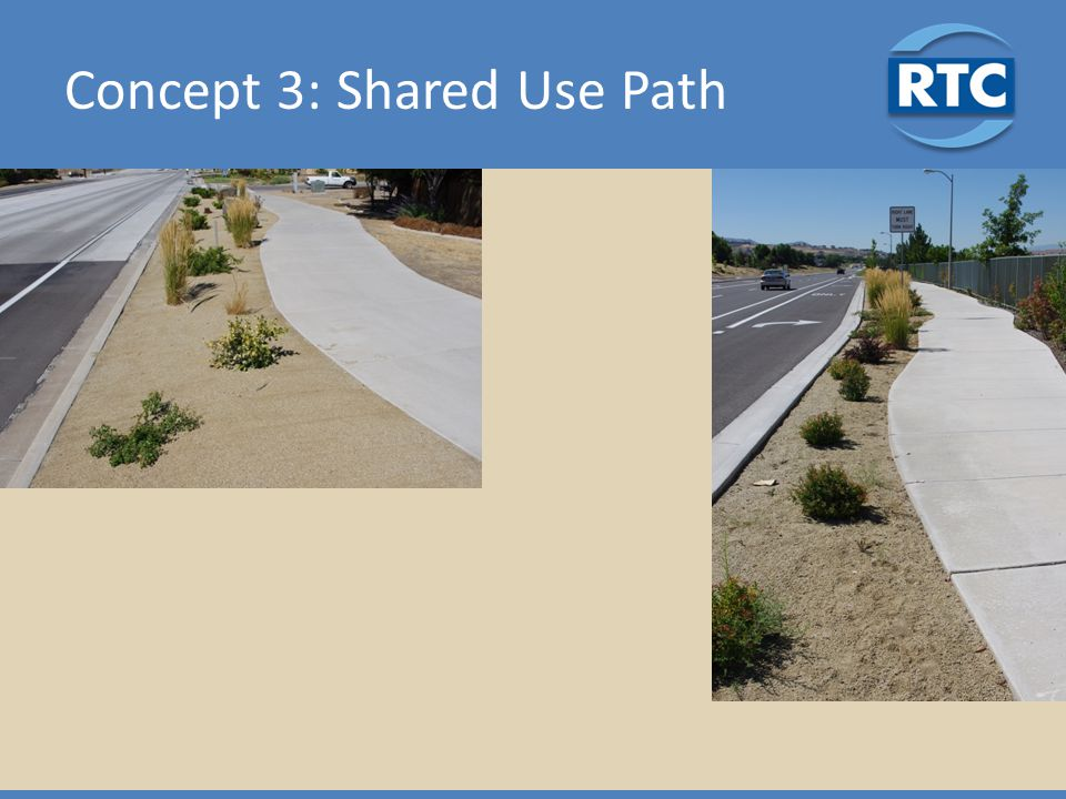 Concept 3: Shared Use Path