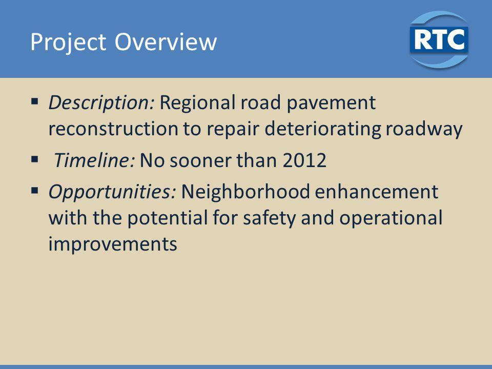 Project Option: 1C Pavement improvements, shoulder and parking