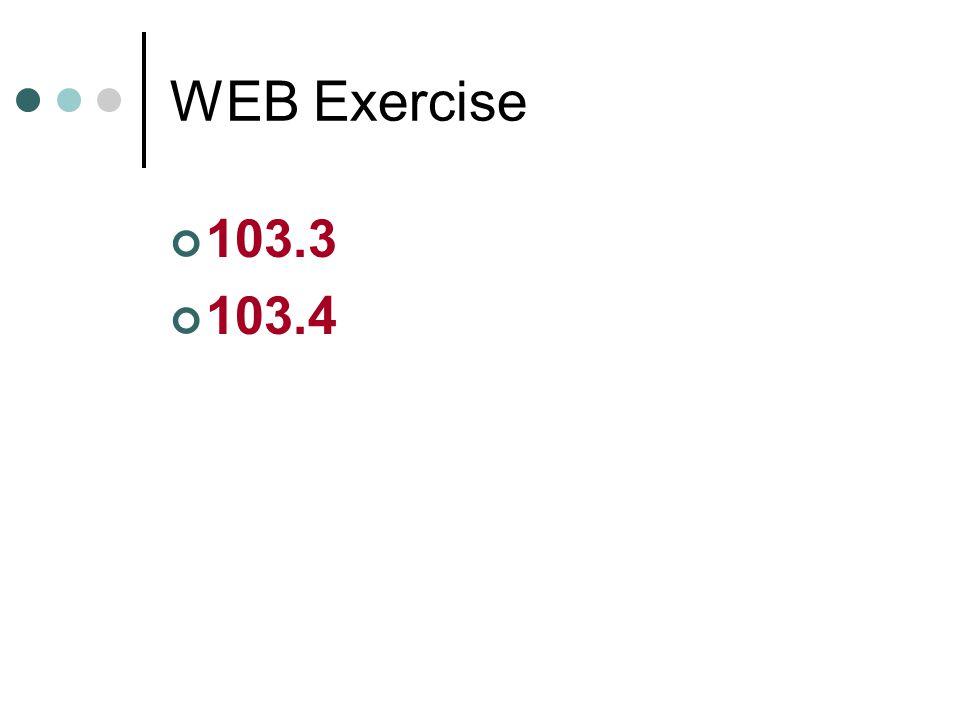 WEB Exercise 103.3 103.4