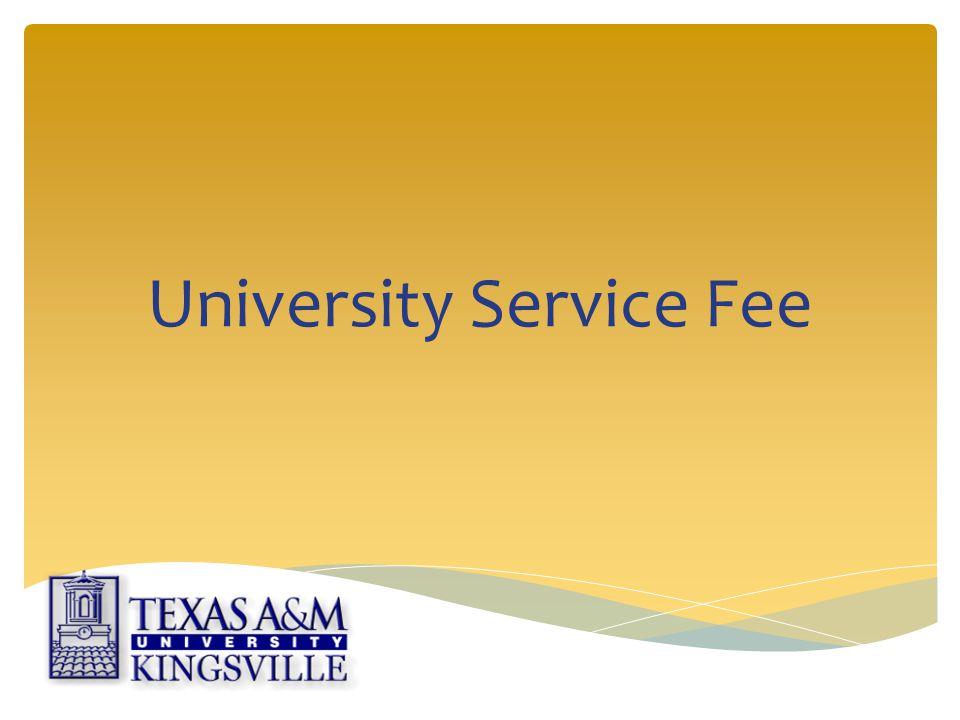 University Service Fee