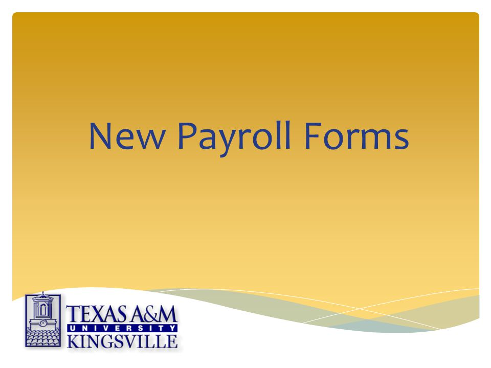 New Payroll Forms