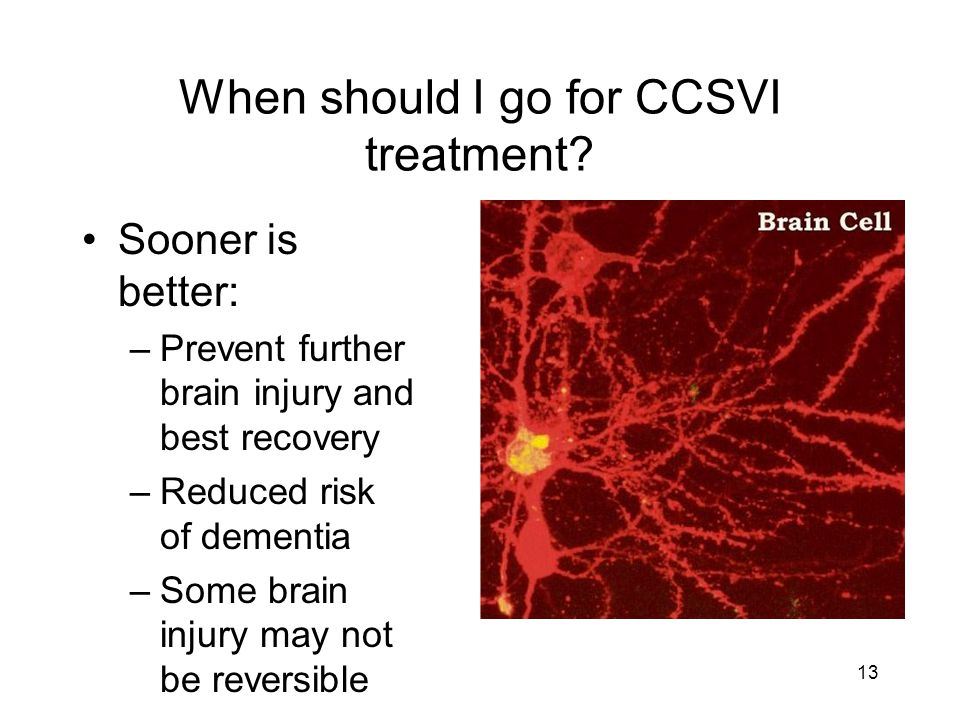 When should I go for CCSVI treatment.