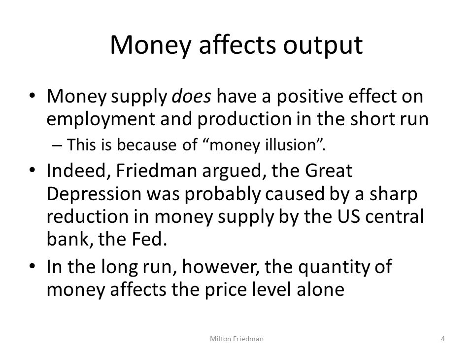 Monetary policy But there are lags that make monetary policy ineffective.