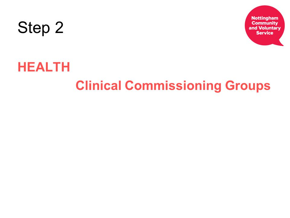 Step 2 HEALTH Clinical Commissioning Groups