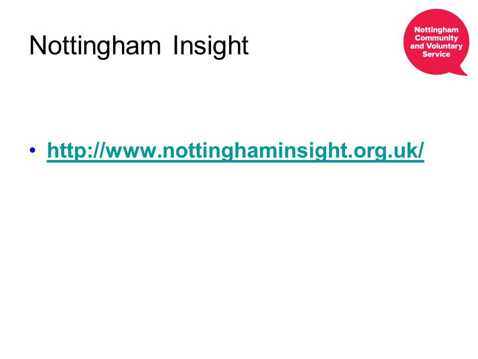 Nottingham Insight http://www.nottinghaminsight.org.uk/