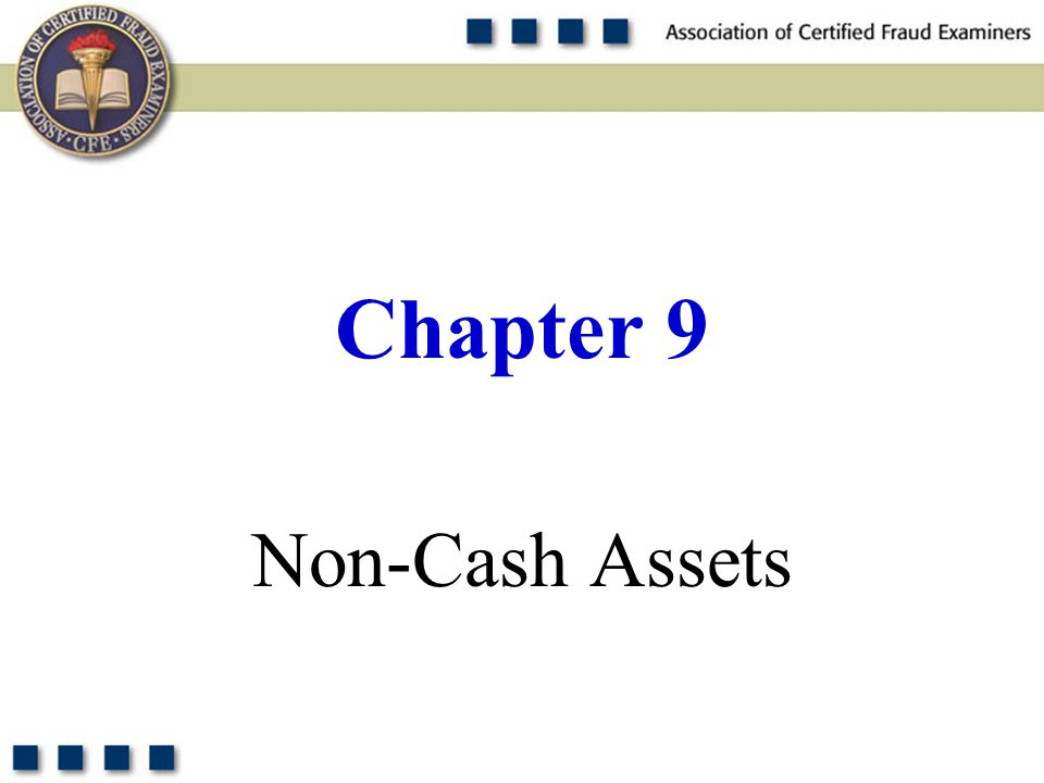 1 Non-Cash Assets Chapter 9