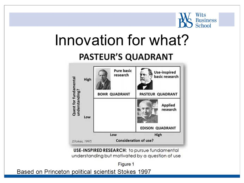 Innovation for what Based on Princeton political scientist Stokes 1997