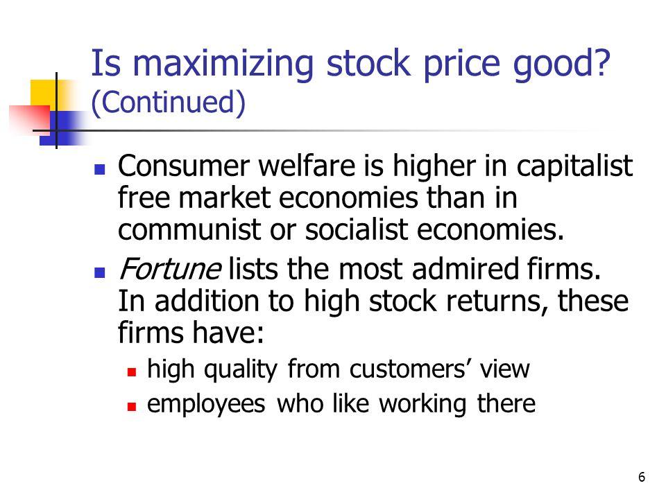 6 Is maximizing stock price good.