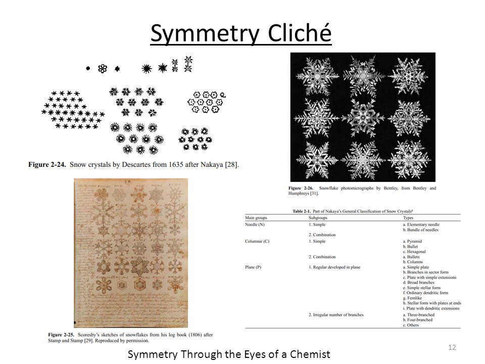12 Symmetry Through the Eyes of a Chemist Symmetry Cliché
