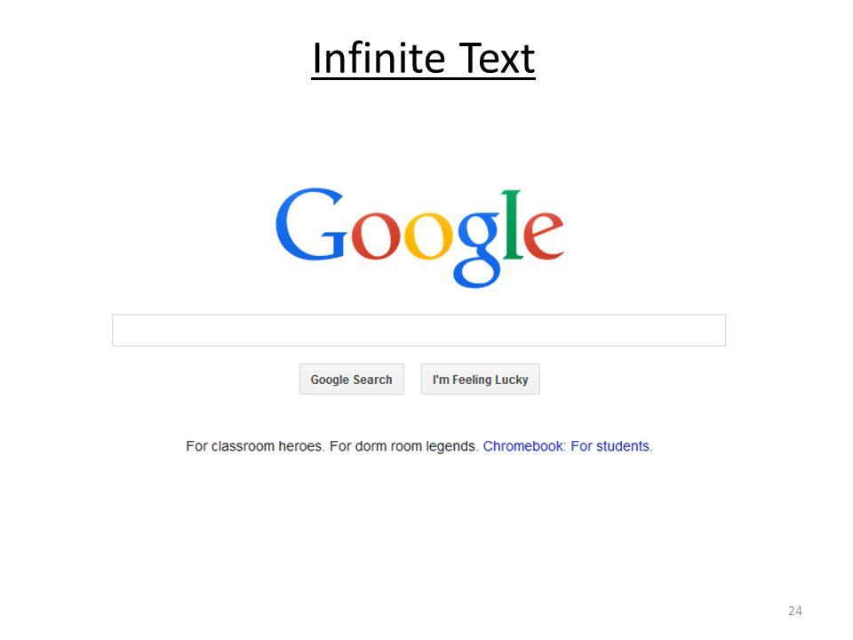 Infinite Text 24