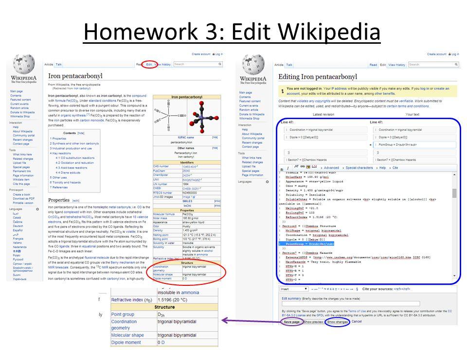 Homework 3: Edit Wikipedia