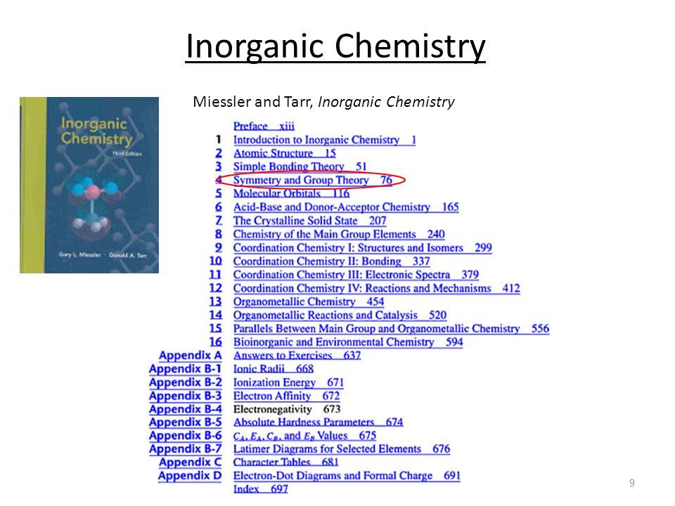 9 Inorganic Chemistry Miessler and Tarr, Inorganic Chemistry