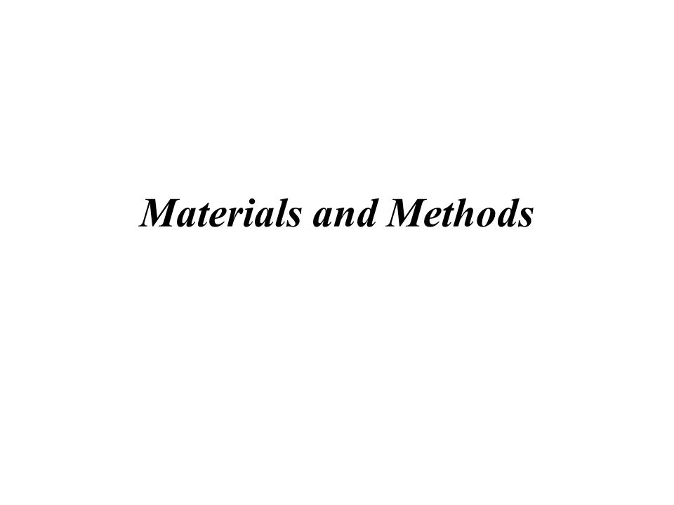 When writing the paper, don't begin at the beginning, start with the materials and methods It is the least complicated section, though it is quite detailed.