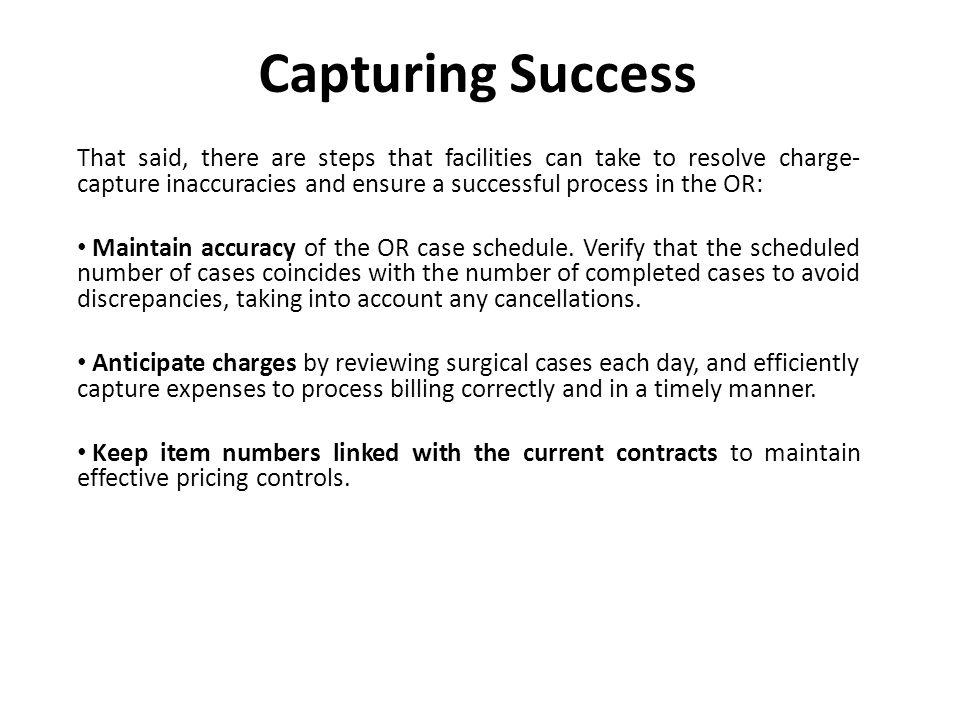 Establish a system that ensures process controls for billing procedures.