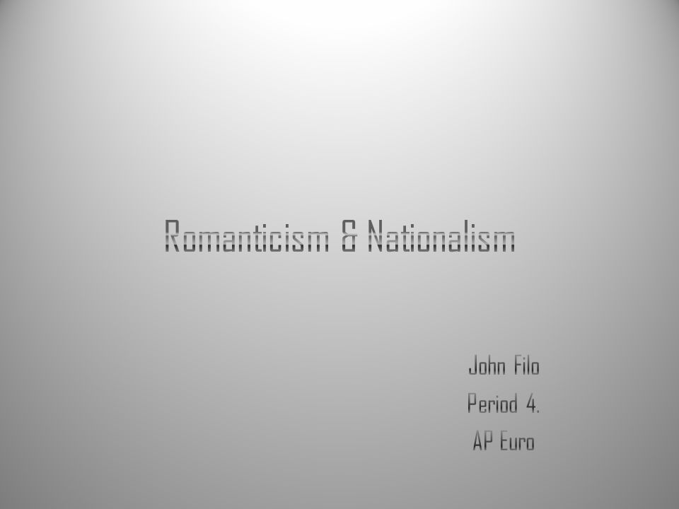 Analyze three examples of the relationship between Romanticism and nationalism before 1850.