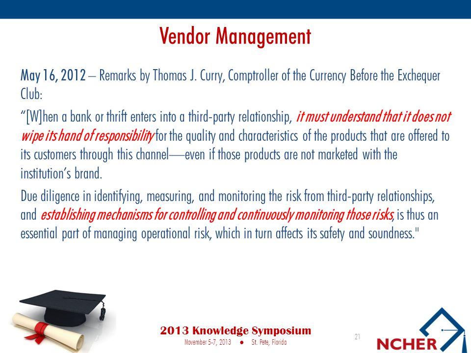 May 16, 2012 – Remarks by Thomas J.