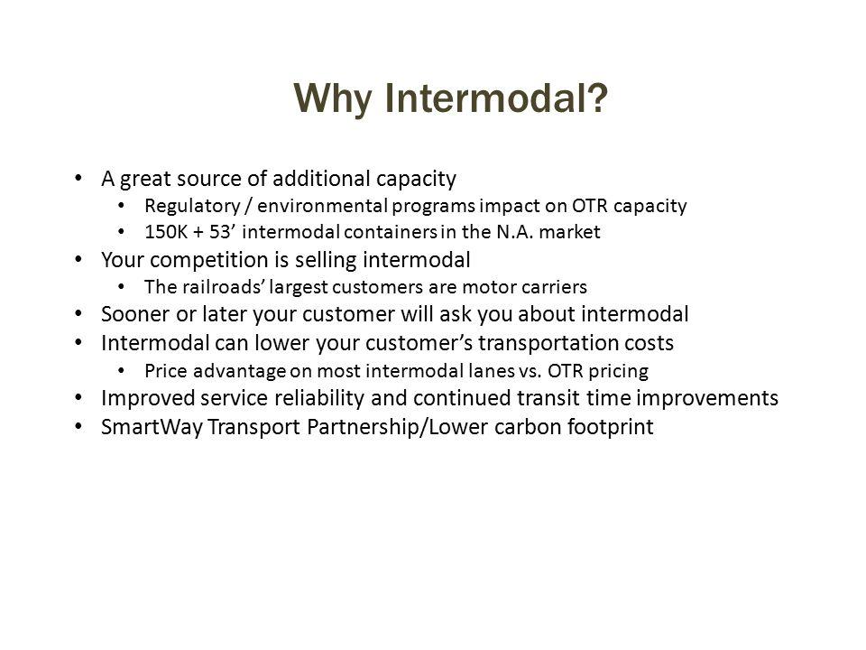 Why Intermodal.