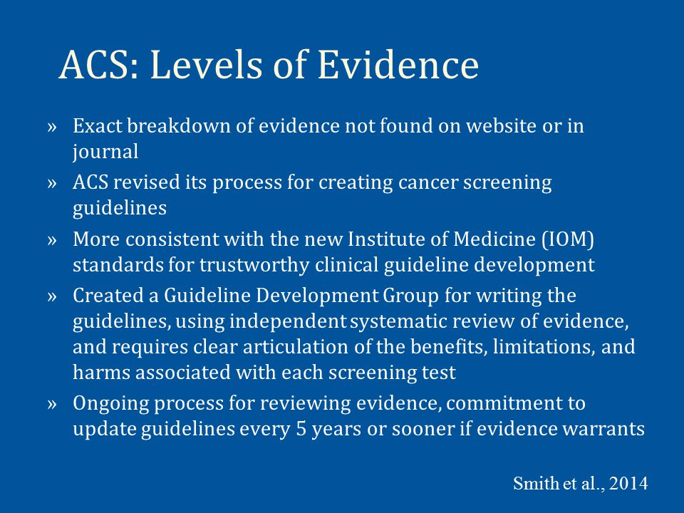 NCCN: Levels of Evidence »Levels of Evidence »Category 1: Based upon high-level evidence, there is uniform NCCN consensus that the intervention is appropriate.