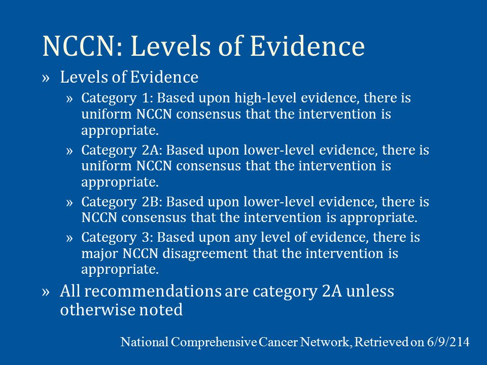 USPSTF: Level of Certainty Level of Certainty** Description High The available evidence usually includes consistent results from well-designed, well- conducted studies in representative primary care populations.