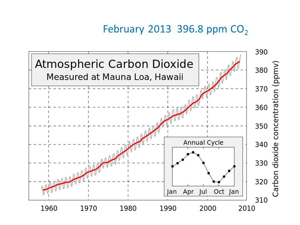 February 2013 396.8 ppm CO 2