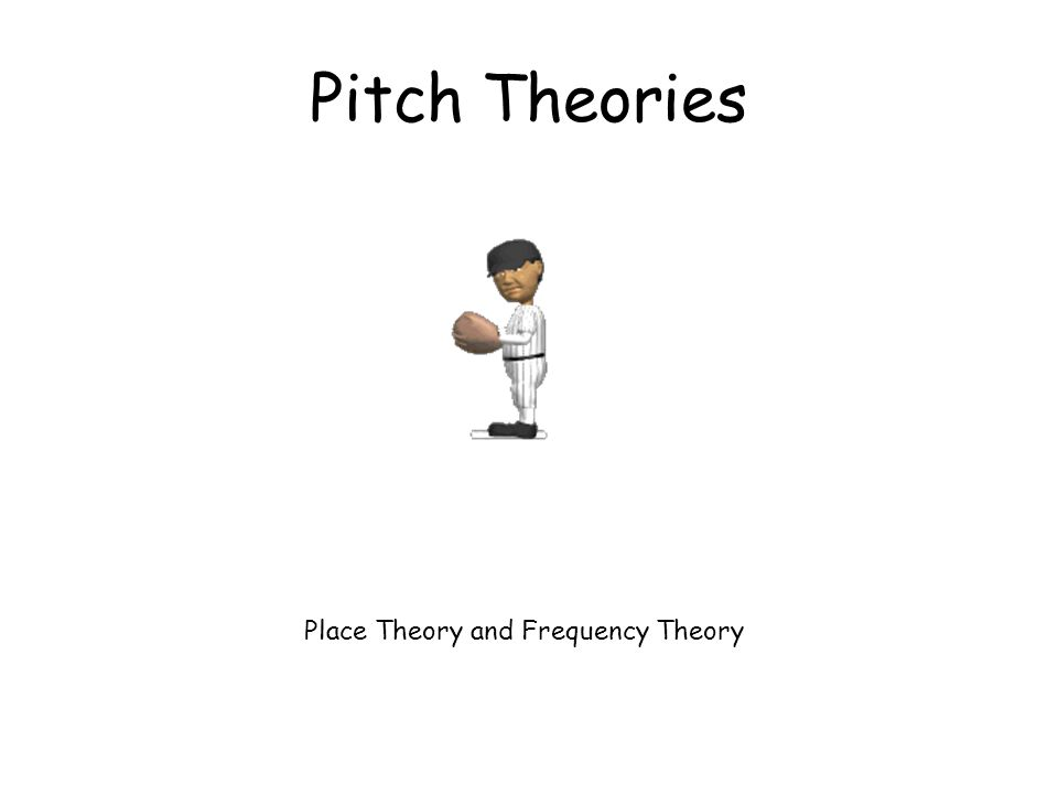 Pitch Theories Place Theory and Frequency Theory