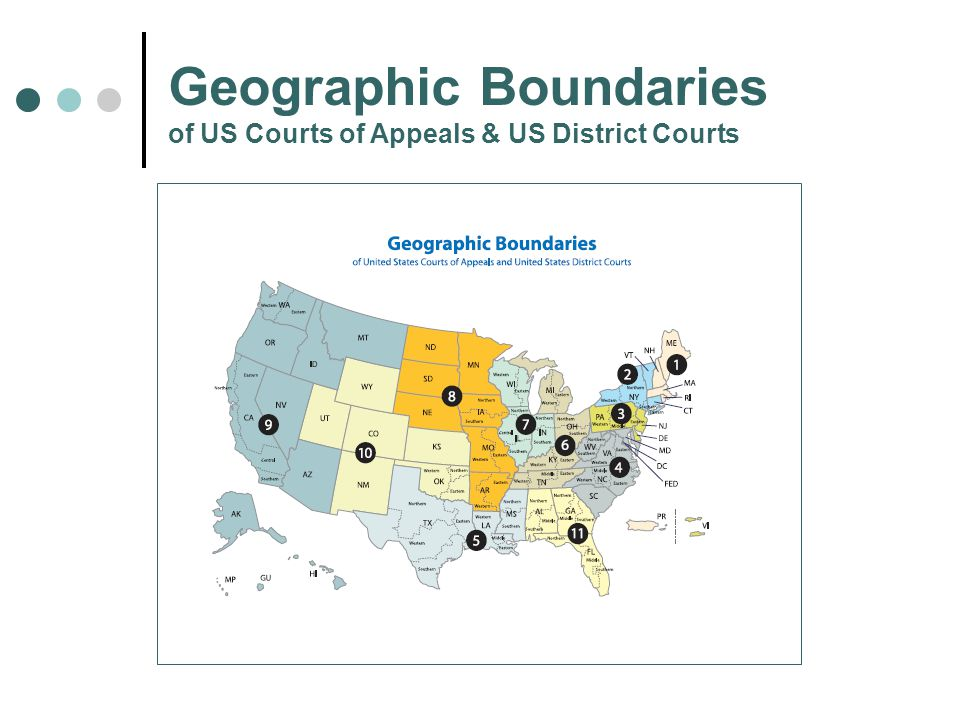 Geographic Boundaries of US Courts of Appeals & US District Courts