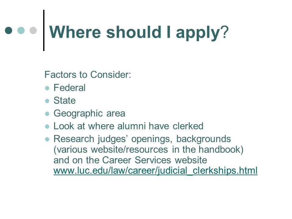 Where should I apply.