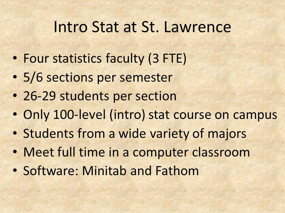 Intro Stat at St.