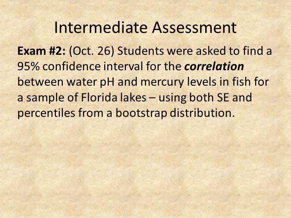 Intermediate Assessment Exam #2: (Oct.