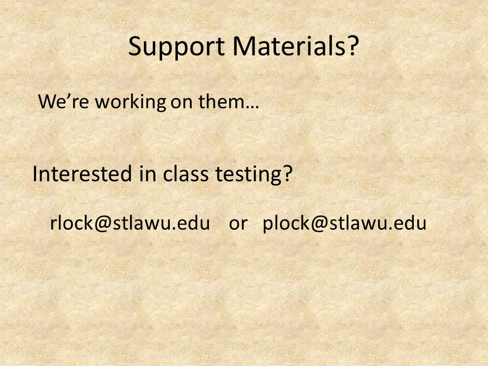 Support Materials.