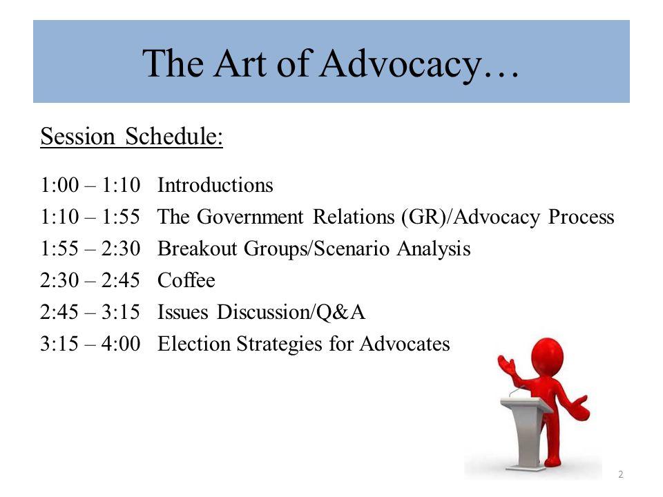 3 Advocacy vs.