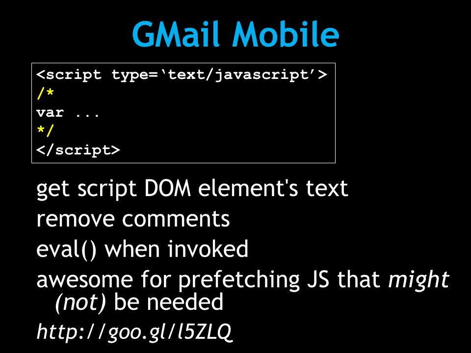 GMail Mobile /* var...