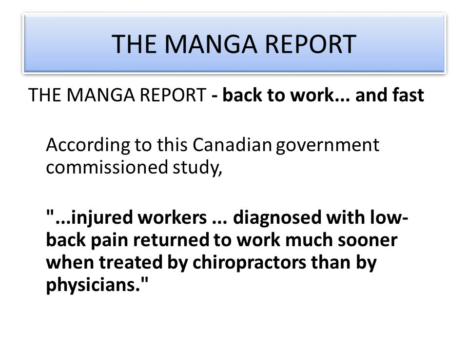 THE MANGA REPORT THE MANGA REPORT - back to work...