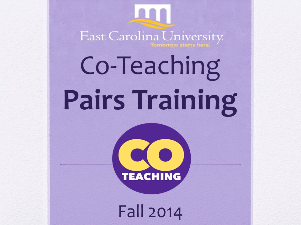 Co-Teaching Pairs Training Fall 2014