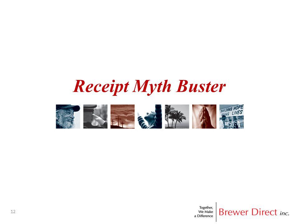 12 Receipt Myth Buster