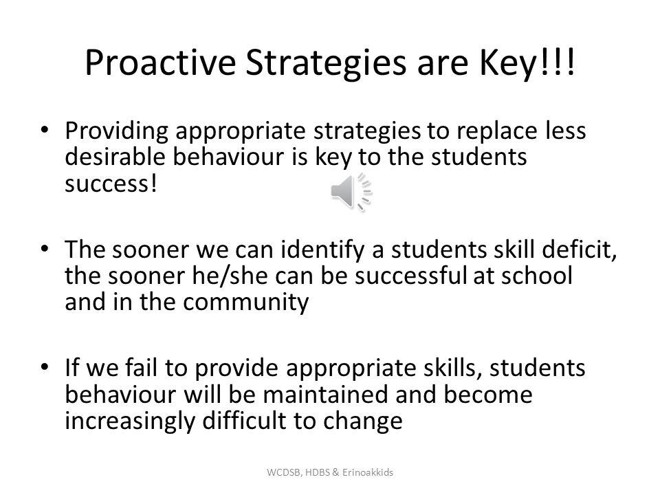 Proactive Strategies are Key!!.